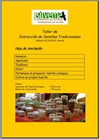 TALLER DE SEMILLAS, INSCRIPCIÓN