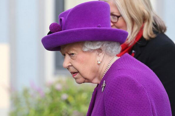 Royal Purple Amethysts diamond brooch. Queen Victoria's engagement ring worn by Duchess of Cambridge