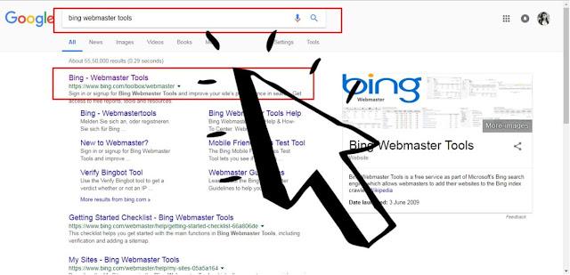 Submit Sitemap On Bing