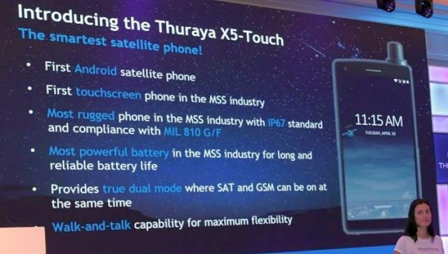 Thuraya X5-Touch specs