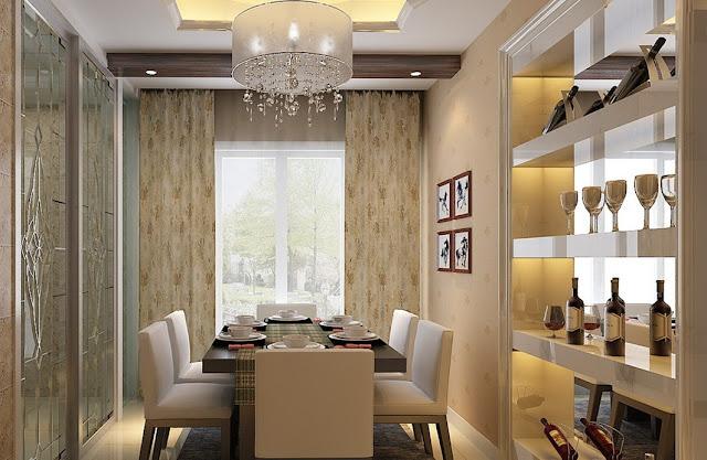 Ruang Makan Minimalis Modern dengan Tempat Minuman