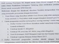 Simak Baik-baik!! 5 Point Mendapatkan SK Bupati Tahun 2018 untuk GTT/PTT