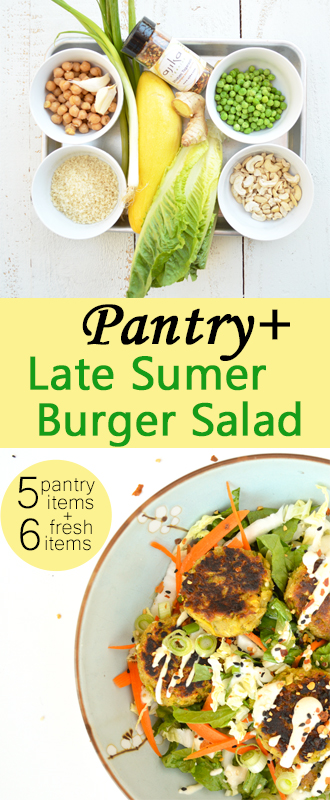 Late Summer Burger Salad is perfect way to end the season. #Ginger ...