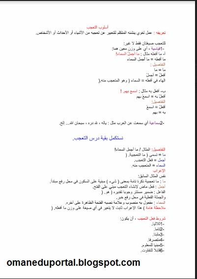 ملخص وشرح لجميع دروس المفيد للصف الثاني عشر الفصل الدراسي الاول