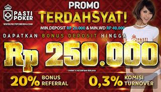 FREEBET TERBARU | PASTIPOKER 50.000 | BONUS DEPOSIT