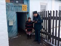 (ФОТО)Сотрудники МЧС напомнили жителям частных домов  о мерах пожарной безопасности в быту