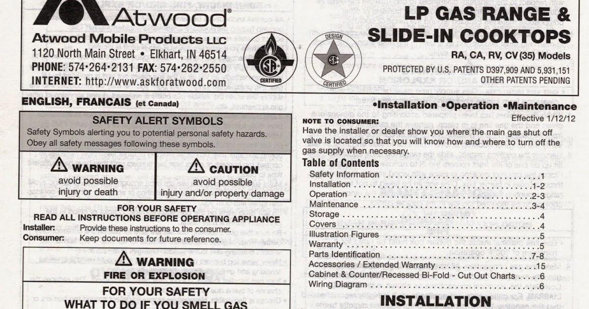 Class A Customs Atwood Wedgewood Lp Gas Range W 3 Burner