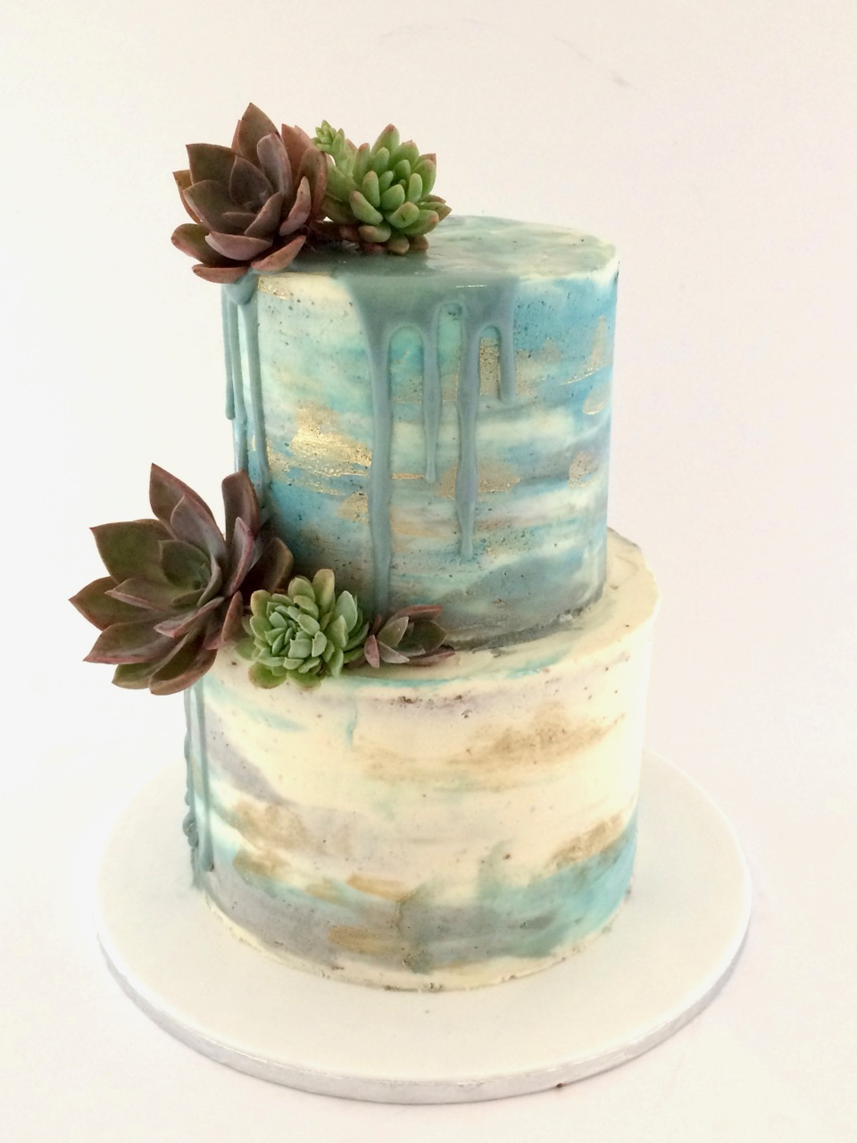 Rozannes Cakes Buttercream Cake With Succulents