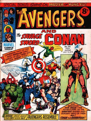 UK Avengers Weekly #95, first Conan