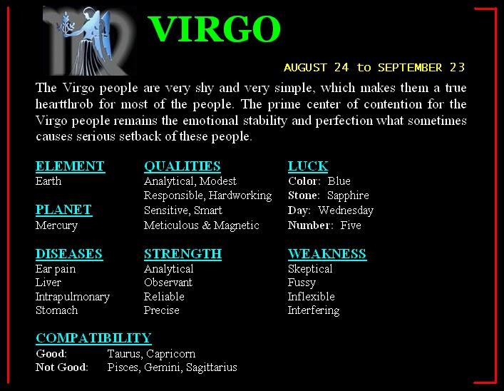 Compatible zodiac signs virgo