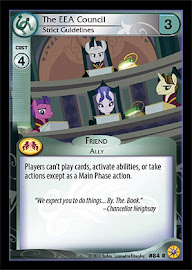 My Little Pony The EEE Council, Strict Guidelines Friends Forever CCG Card