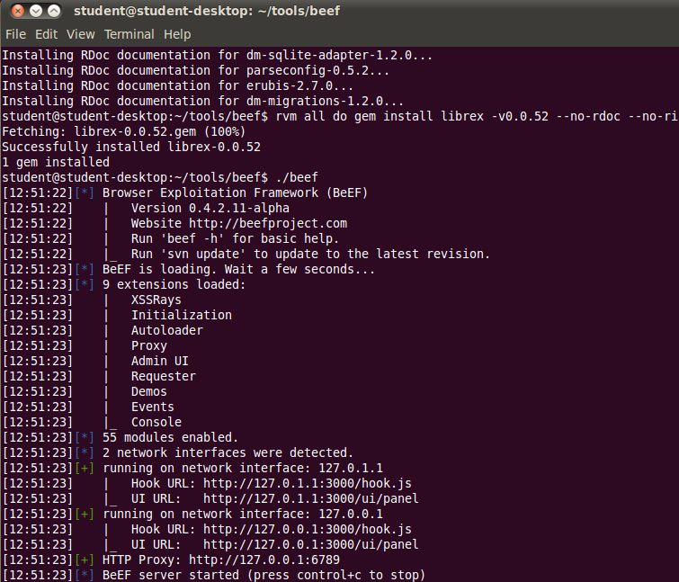 How to install BeEF on Ubuntu 10 04 LTS – Professionally