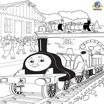 Thomas and friends Emily the train coloring Scottish steam engine line pictures to color and print