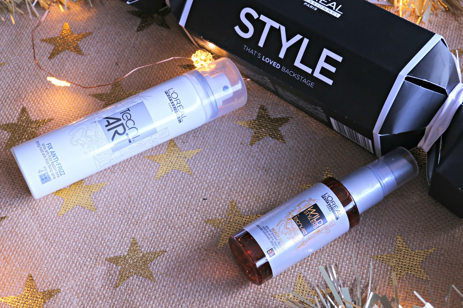 L'Oreal Professionnel Style Cracker Tecni.ART Fix Anti-Frizz spray, Tecni.ART Beach Waves spray Image