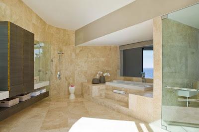 Bathroom Marble Flooring Applications