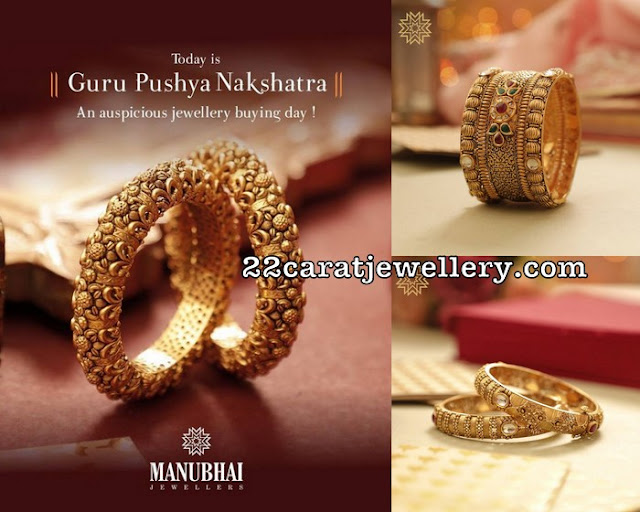 Spectacular Bangles by Manubhai Jewellers