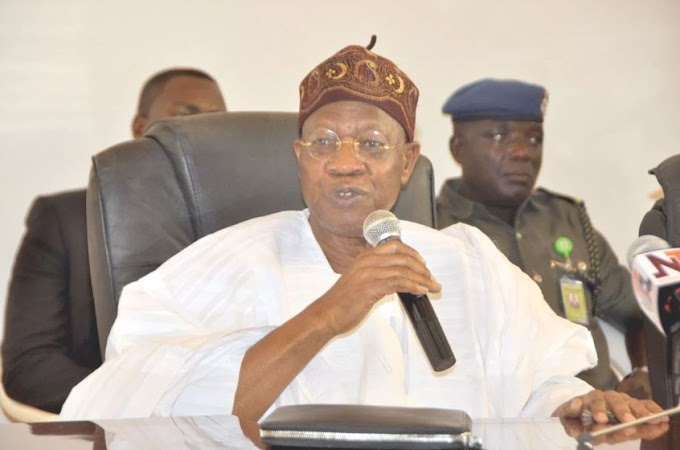 How Simple 'O To Ge' (Enough Is Enough), Sacked Saraki, Says Lai Mohammed