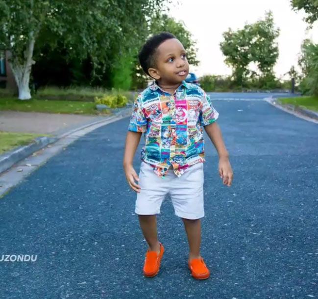 Aww! E-money's cute son Chukwuebuka turns 3 years old today