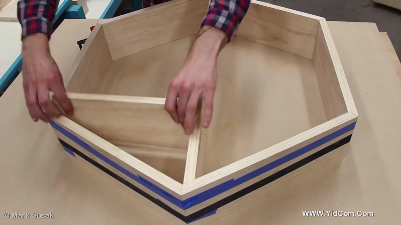 Como Construir Un Estante Decorativo De Plywood Nido De Abeja U  # Muebles Nido De Abeja