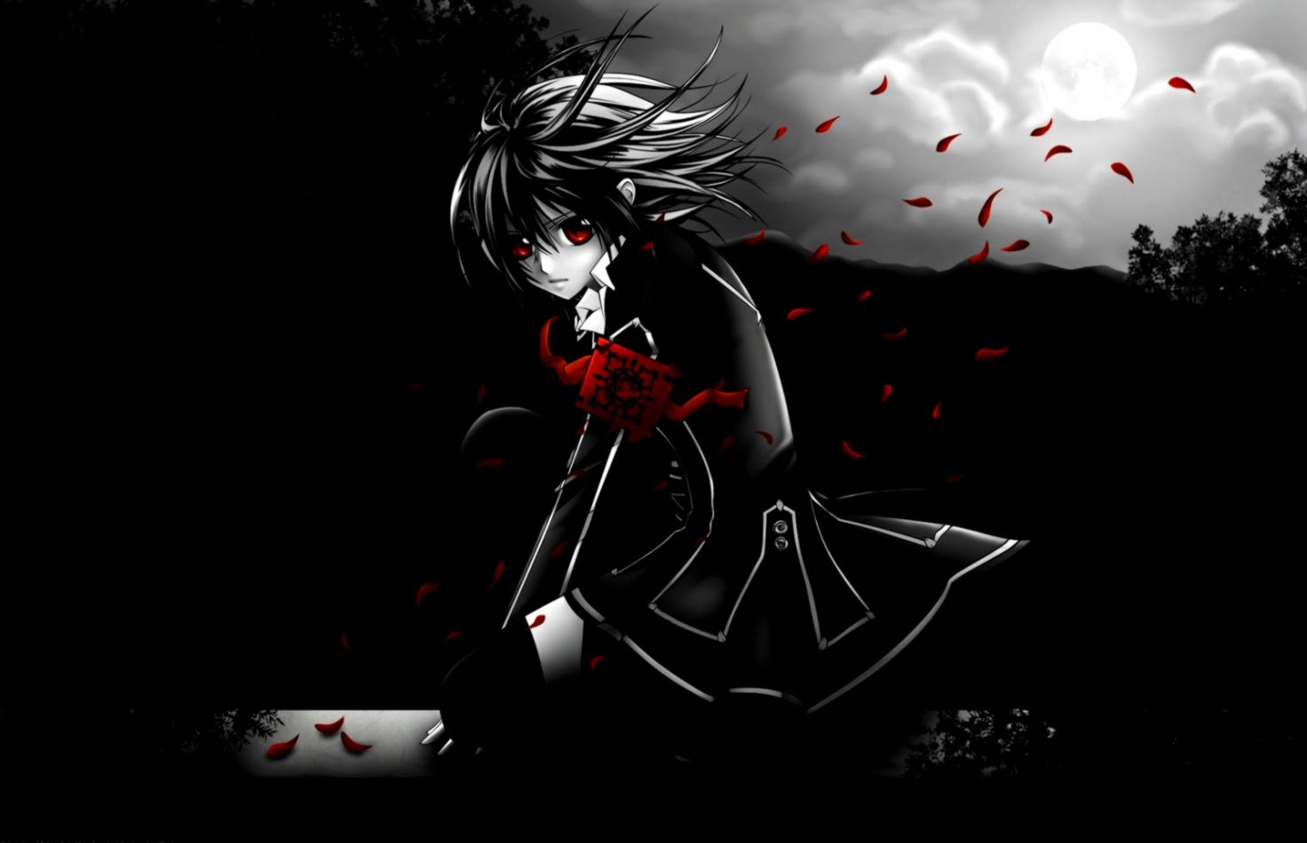 Anime emo alone night wallpaper all wallpapers desktop - Emo anime wallpaper ...