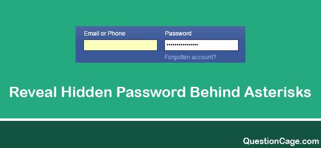 How To Reveal Hidden Password Behind Asterisks