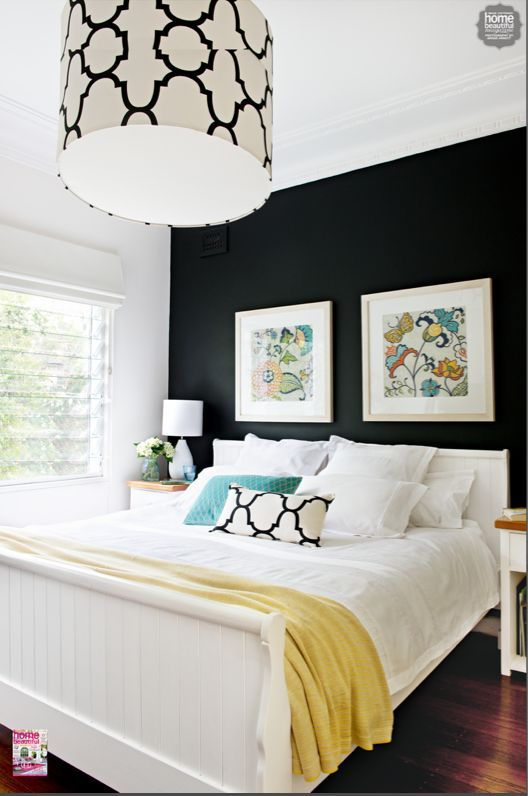 Weekend Tweaks Black Painted Wall