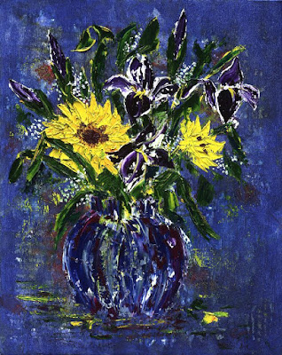 http://paintingsbylyndacookson.blogspot.fr/2016/05/sunflowers-and-irises-by-lynda-cookson.html