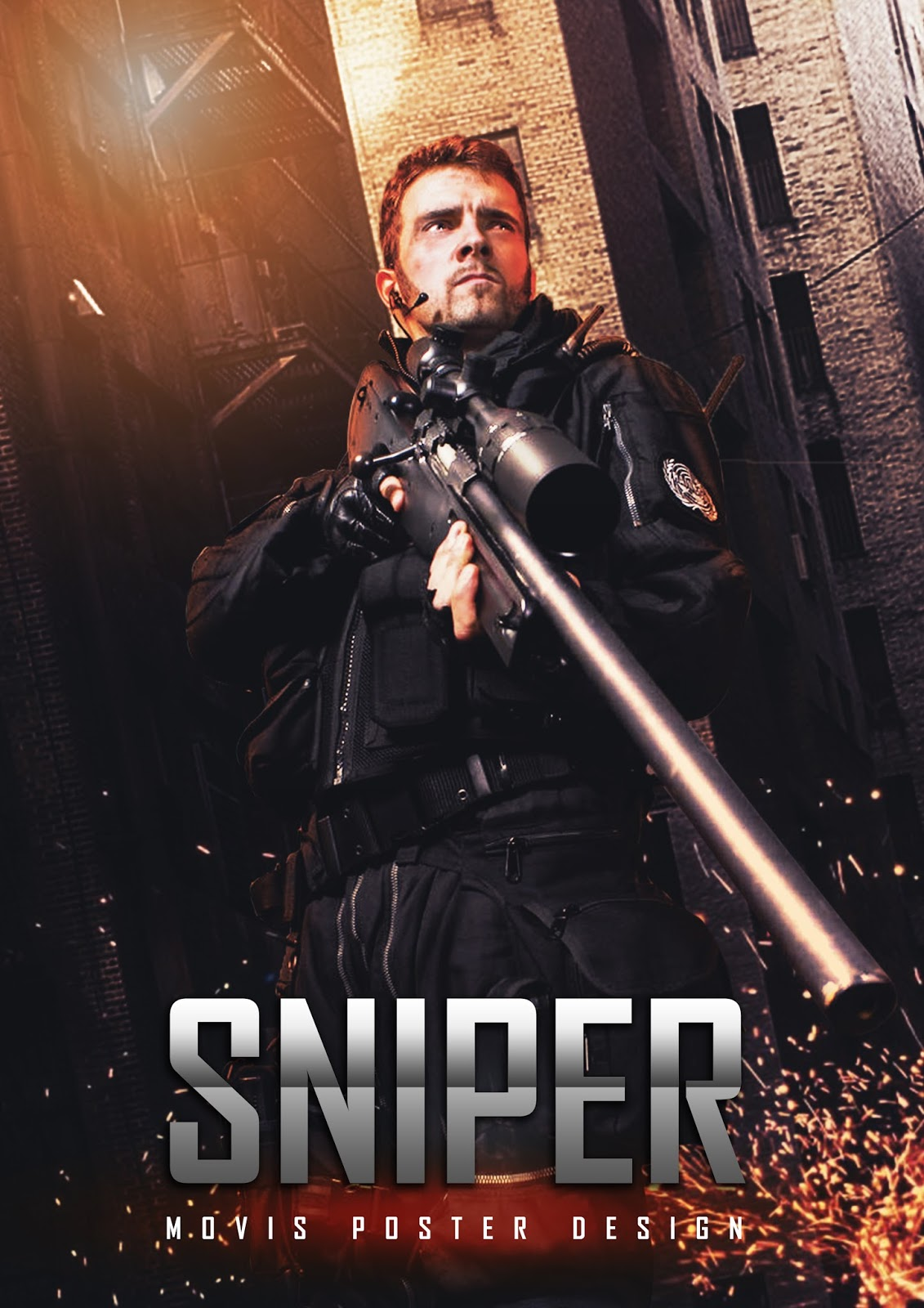 Creating sniper movie poster manipulation effects using adobe tutorial resources baditri Gallery