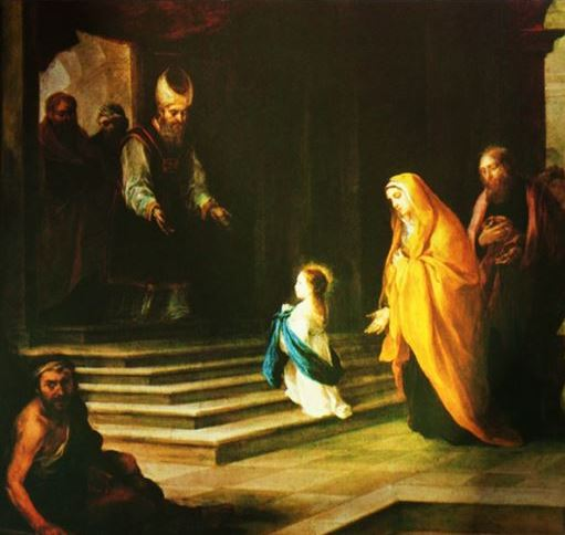 NOV 21 - Feast of the Presentation of Our Lady in the Temple by her parents St Joachim and St Anne