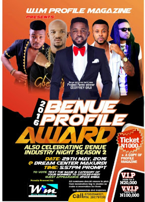benue profile award 2016