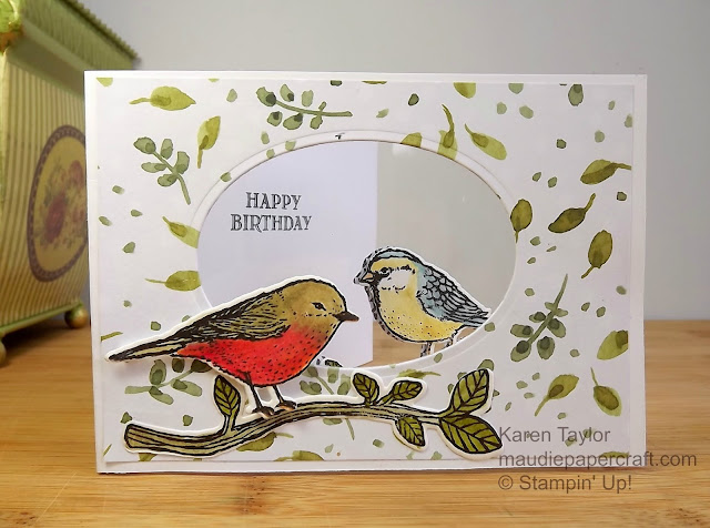 Stampin' Up! Best Birds window card