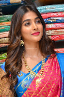 Puja Hegde looks stunning in Red saree at launch of Anutex shopping mall ~ Celebrities Galleries 031.JPG