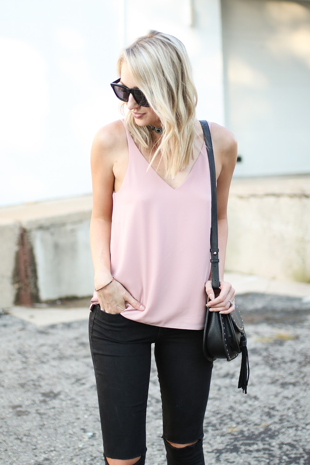 Pink topshop tank