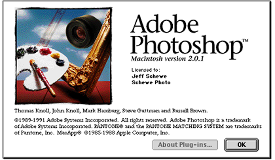 Adobe Photoshop 2.0.1 Mac