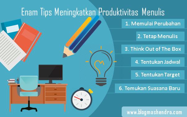 Enam Tips Meningkatkan Produktivitas Menulis - Blog Mas Hendra