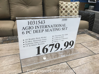 Costco 1031543 - Deal for the 6pc Agio Internationa Deep Seating Set at Costco