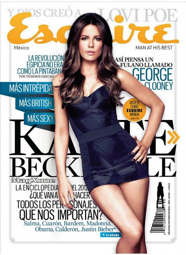 Kate Beckinsale for Esquire Mexico, January 2012