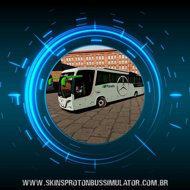 Skin Proton Bus Simulator Road - Busscar Vissta Buss MB O-500 RS BT5 Viação Planalto