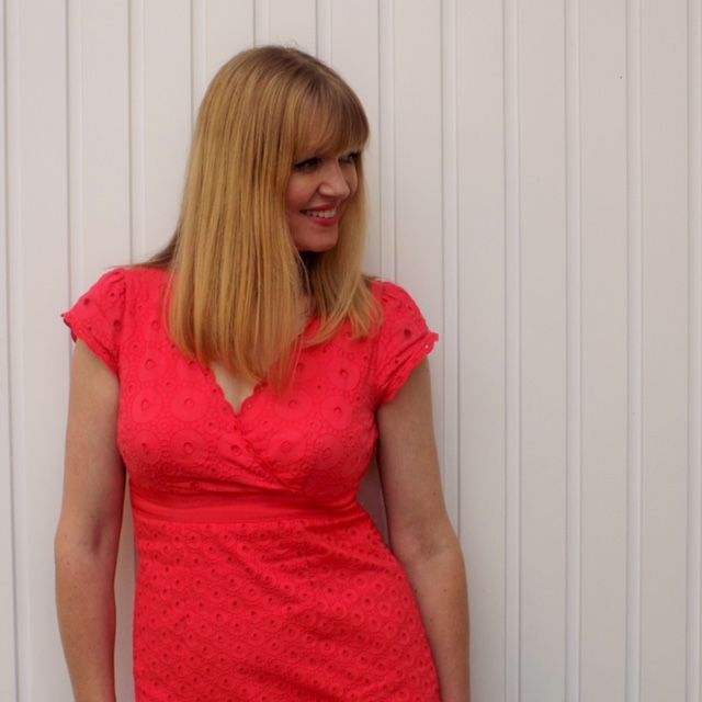 Boden red broderie Anglaise dress