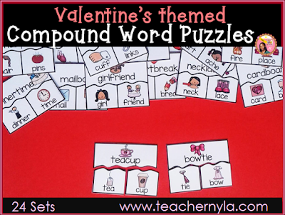 Valentine's Themed Compound Words