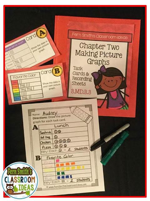 Fern Smith's Classroom Ideas Third Grade Math - Unit Two - Task Cards Bundle at TeacherspayTeachers.