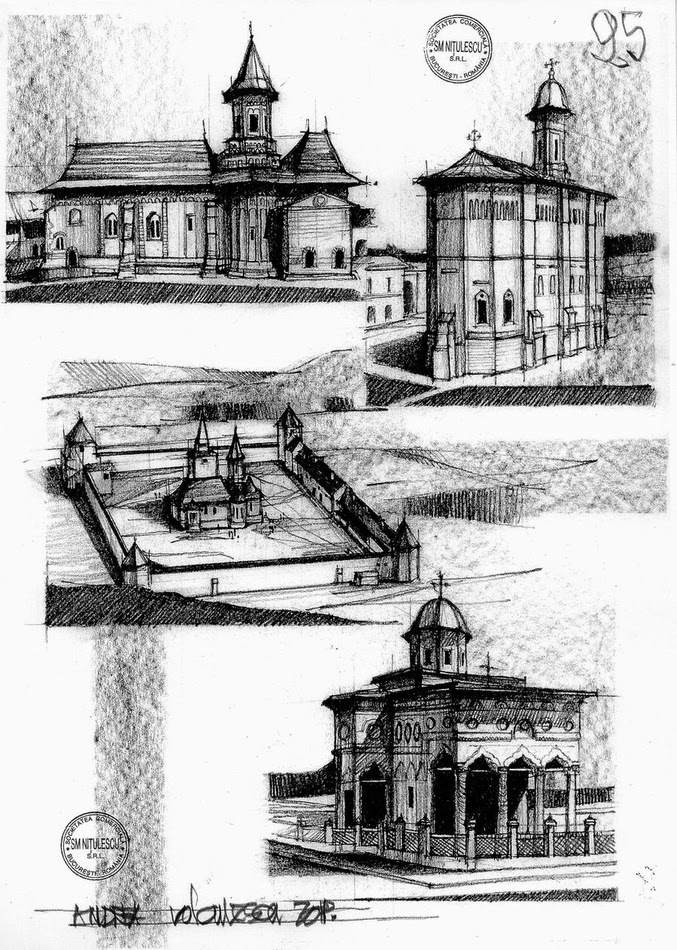 13-Churches-&-Monasteries-Romania-15th-&-16th-Century-Andrea-Voiculescu-Drawings-of-Historic-Architecture-www-designstack-co