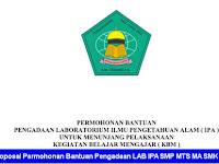 Contoh Proposal Permohonan Bantuan Pengadaan LAB IPA Jenjang SMP MTS MA SMK SMA