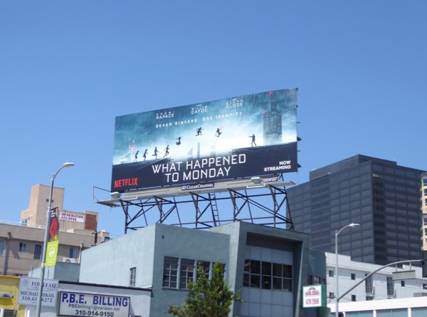 What Happened to Monday film billboard