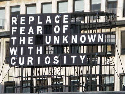 Replace fear of the unknown quote - found on Hello Lovely Studio