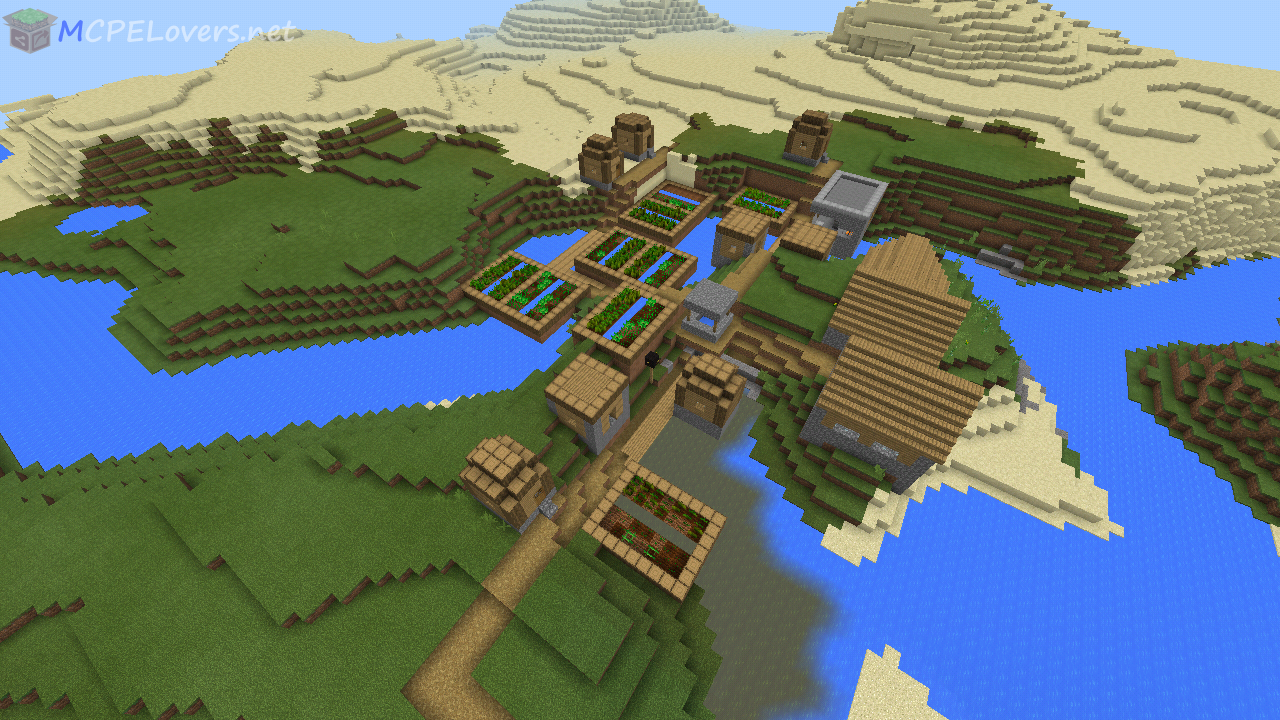 A Village at Spawn + Savannah Village
