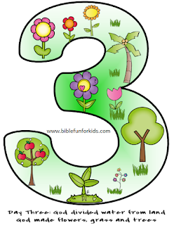 Days of Creation Number Visuals @ www.biblefunforkids.com