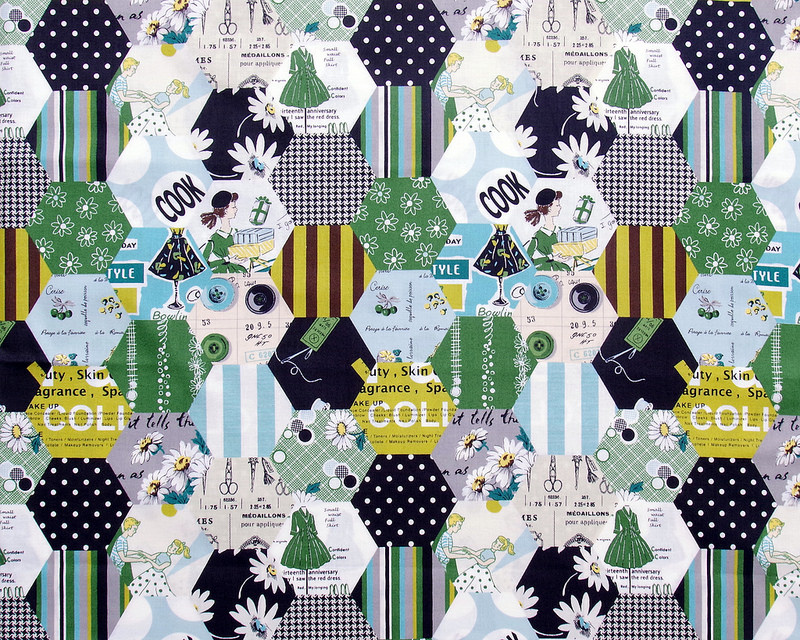 Hexagon Cheater Prints by Suzuko Koseki for Yuwa Fabrics | © Red Pepper Quilts 2018