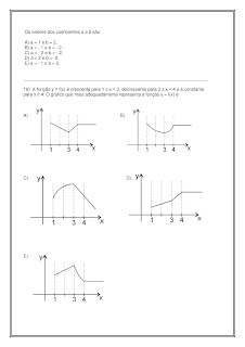prova de matematica 3 ano ensino medio com gabarito