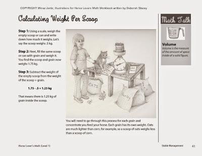 Horse Lover Math workbook by Deborah Stacey